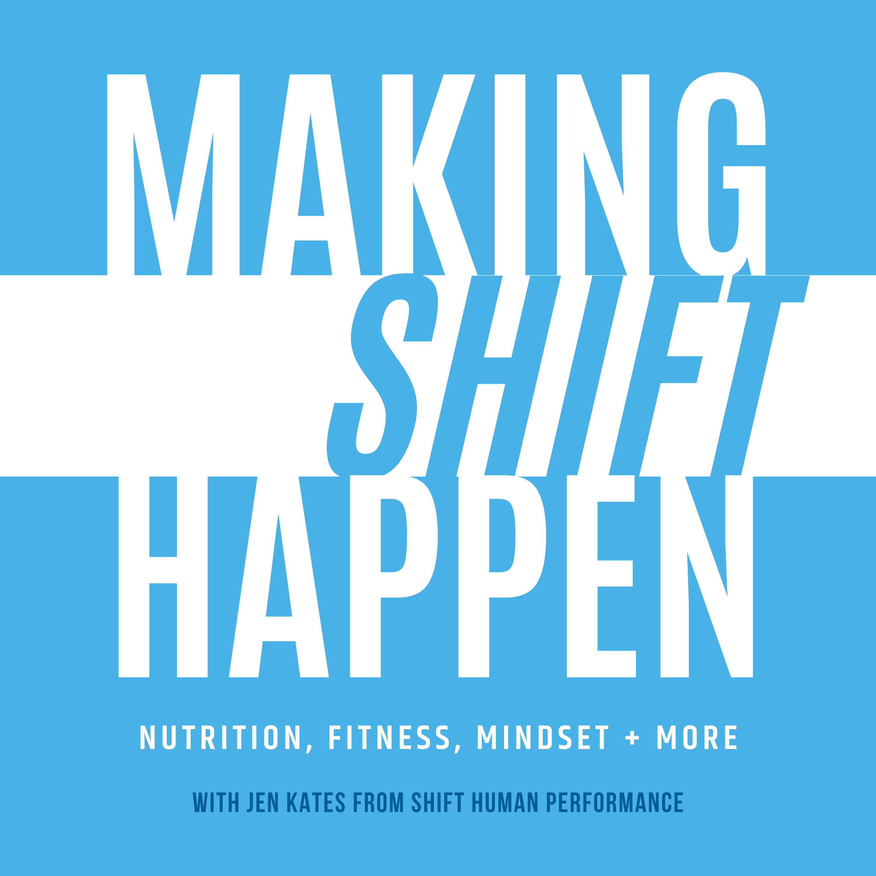Making Shift Happen podcast logo to talk about 10k steps per day